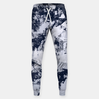 Thumbnail image of geometric art abstract background in black and white Sweatpants, Live Heroes