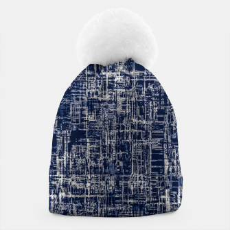 Imagen en miniatura de geometric line art texture abstract background in black and white Beanie, Live Heroes