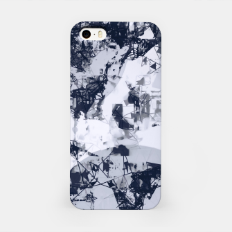 Thumbnail image of geometric art abstract background in black and white iPhone Case, Live Heroes