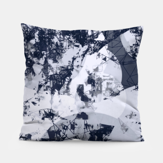 Thumbnail image of geometric art abstract background in black and white Pillow, Live Heroes