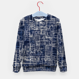 Thumbnail image of geometric line art texture abstract background in black and white Kid's sweater, Live Heroes