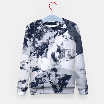 Thumbnail image of geometric art abstract background in black and white Kid's sweater, Live Heroes