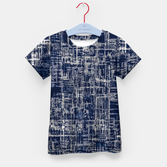 Thumbnail image of geometric line art texture abstract background in black and white Kid's t-shirt, Live Heroes