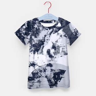 Thumbnail image of geometric art abstract background in black and white Kid's t-shirt, Live Heroes