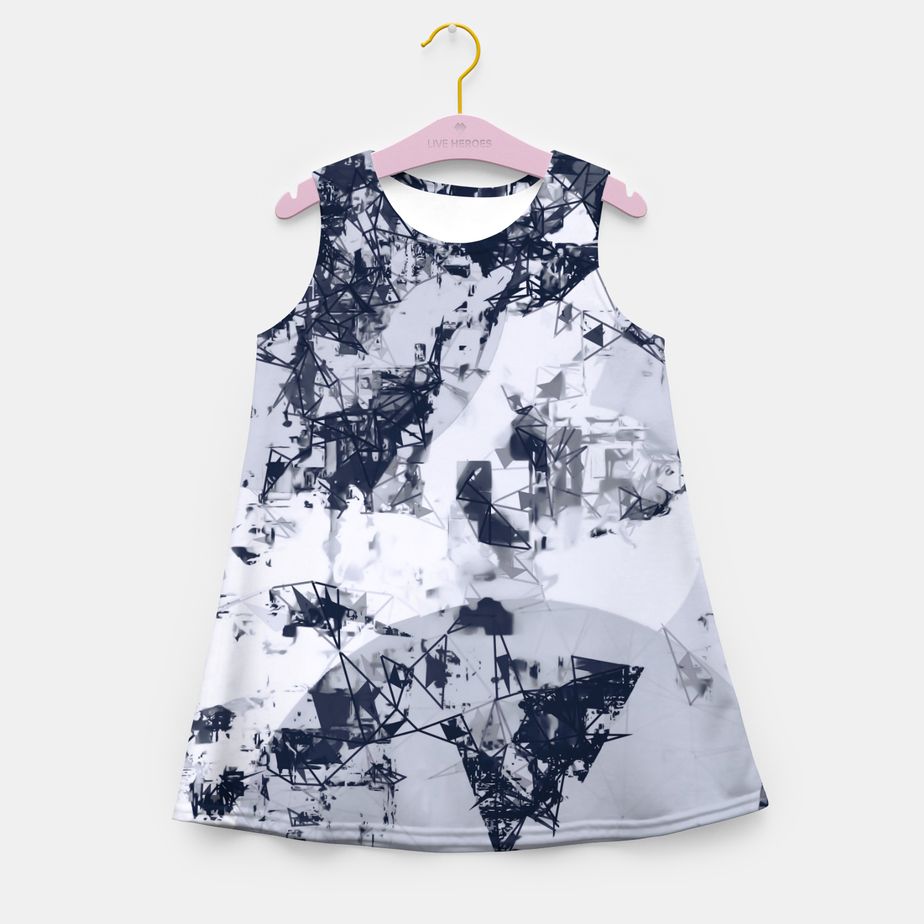 Image de geometric art abstract background in black and white Girl's summer dress - Live Heroes