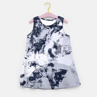 Thumbnail image of geometric art abstract background in black and white Girl's summer dress, Live Heroes