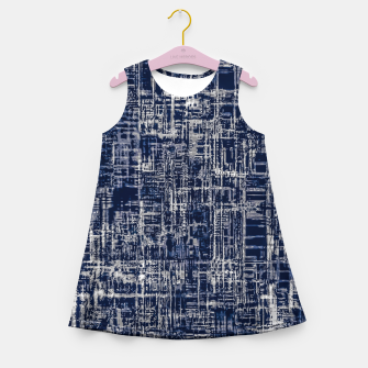 Imagen en miniatura de geometric line art texture abstract background in black and white Girl's summer dress, Live Heroes