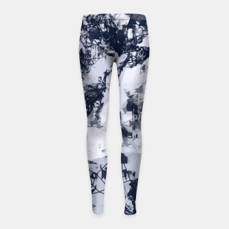 Thumbnail image of geometric art abstract background in black and white Girl's leggings, Live Heroes