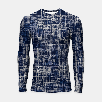Thumbnail image of geometric line art texture abstract background in black and white Longsleeve rashguard , Live Heroes