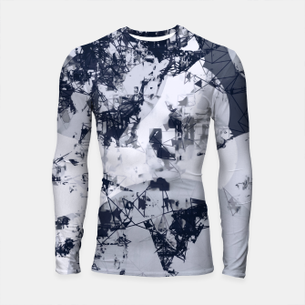 Thumbnail image of geometric art abstract background in black and white Longsleeve rashguard , Live Heroes