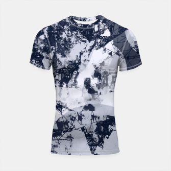 Thumbnail image of geometric art abstract background in black and white Shortsleeve rashguard, Live Heroes