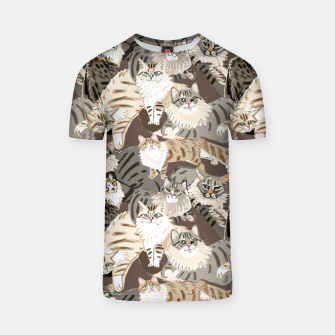 Thumbnail image of Cats Paradise Pattern Chocolate Camiseta, Live Heroes