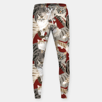 Thumbnail image of Cats Paradise Pattern Red Pantalones de chándal , Live Heroes