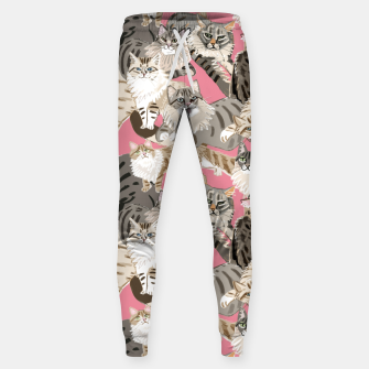 Thumbnail image of Cats Paradise Pattern Rose Pink Pantalones de chándal , Live Heroes