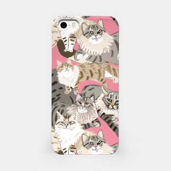 Miniaturka Cats Paradise Pattern Rose Pink Carcasa por Iphone, Live Heroes