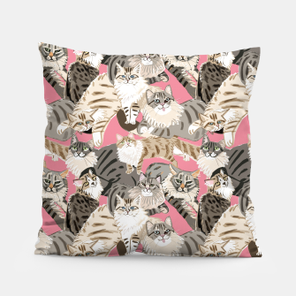 Thumbnail image of Cats Paradise Pattern Rose Pink Almohada, Live Heroes