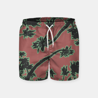 Thumbnail image of Tropical Style Floral Motif Print Pattern Swim Shorts, Live Heroes
