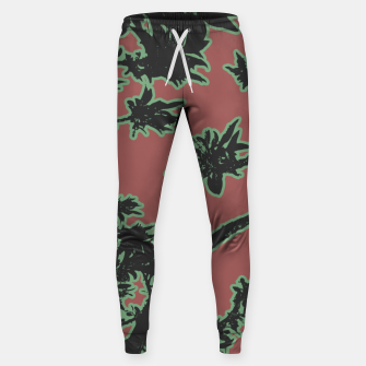 Thumbnail image of Tropical Style Floral Motif Print Pattern Sweatpants, Live Heroes