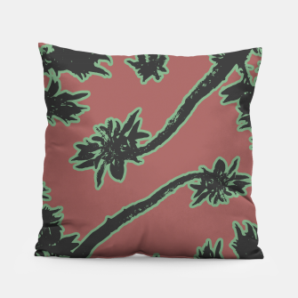 Thumbnail image of Tropical Style Floral Motif Print Pattern Pillow, Live Heroes
