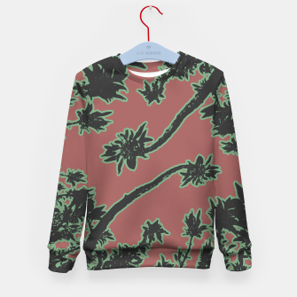 Miniatur Tropical Style Floral Motif Print Pattern Kid's sweater, Live Heroes