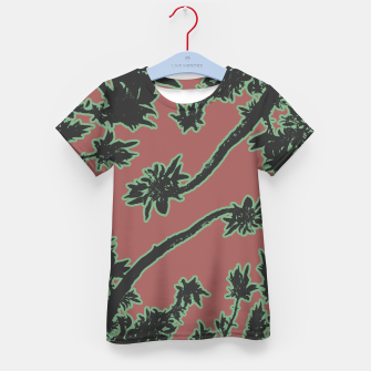Thumbnail image of Tropical Style Floral Motif Print Pattern Kid's t-shirt, Live Heroes