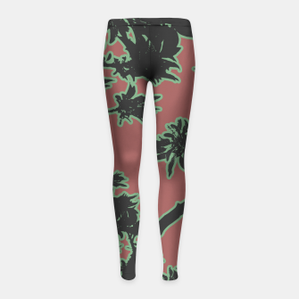 Thumbnail image of Tropical Style Floral Motif Print Pattern Girl's leggings, Live Heroes