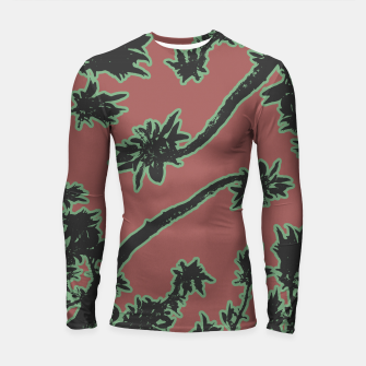Thumbnail image of Tropical Style Floral Motif Print Pattern Longsleeve rashguard , Live Heroes