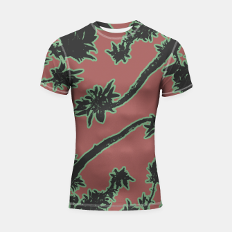 Thumbnail image of Tropical Style Floral Motif Print Pattern Shortsleeve rashguard, Live Heroes