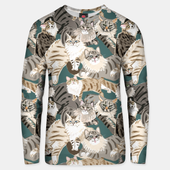 Thumbnail image of Cats Paradise Pattern Teal Sudadera unisex, Live Heroes