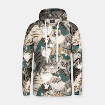 Thumbnail image of Cats Paradise Pattern Teal Sudadera con capucha, Live Heroes