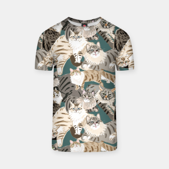Thumbnail image of Cats Paradise Pattern Teal Camiseta, Live Heroes