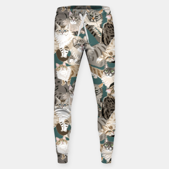 Thumbnail image of Cats Paradise Pattern Teal Pantalones de chándal , Live Heroes