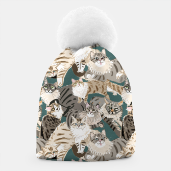 Thumbnail image of Cats Paradise Pattern Teal Gorro, Live Heroes