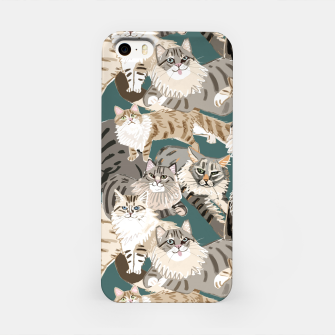 Thumbnail image of Cats Paradise Pattern Teal Carcasa por Iphone, Live Heroes