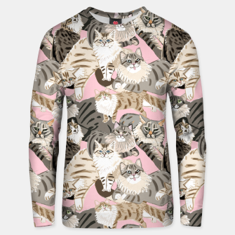 Thumbnail image of Cats Paradise Pattern Light  Pink Sudadera unisex, Live Heroes