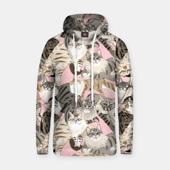 Thumbnail image of Cats Paradise Pattern Light  Pink Sudadera con capucha, Live Heroes