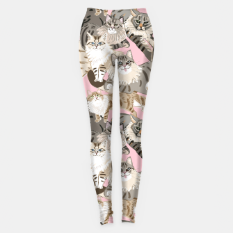 Thumbnail image of Cats Paradise Pattern Light  Pink Leggings, Live Heroes