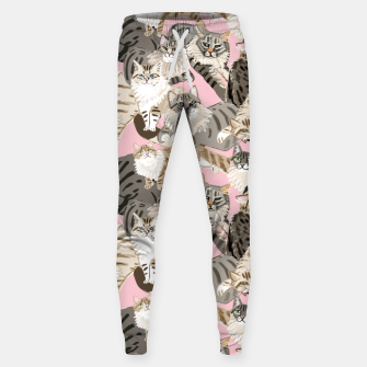 Thumbnail image of Cats Paradise Pattern Light  Pink Pantalones de chándal , Live Heroes