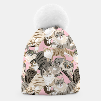 Thumbnail image of Cats Paradise Pattern Light  Pink Gorro, Live Heroes