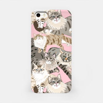 Miniaturka Cats Paradise Pattern Light  Pink Carcasa por Iphone, Live Heroes