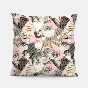 Thumbnail image of Cats Paradise Pattern Light  Pink Almohada, Live Heroes