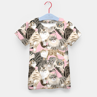 Thumbnail image of Cats Paradise Pattern Light  Pink Camiseta para niños, Live Heroes