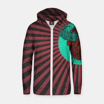 Thumbnail image of Cry Stripes Zip up hoodie, Live Heroes