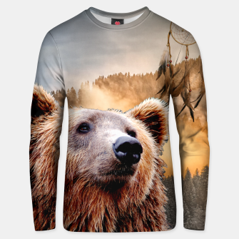 Thumbnail image of Brown Bear and Dream Catcher Unisex sweater, Live Heroes