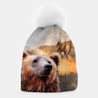 Thumbnail image of Brown Bear and Dream Catcher Beanie, Live Heroes