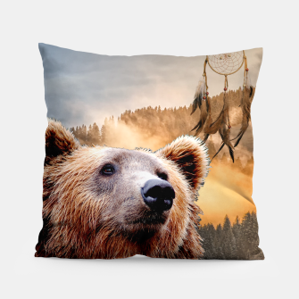 Thumbnail image of Brown Bear and Dream Catcher Pillow, Live Heroes