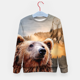 Thumbnail image of Brown Bear and Dream Catcher Kid's sweater, Live Heroes
