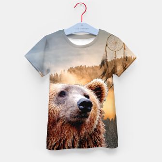Thumbnail image of Brown Bear and Dream Catcher Kid's t-shirt, Live Heroes