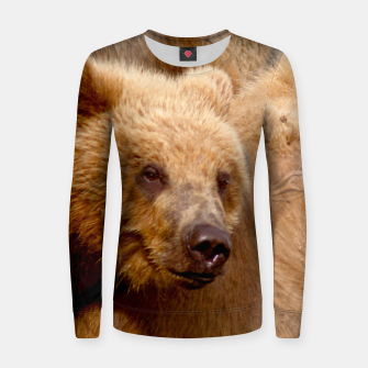 Thumbnail image of Brown Bear Women sweater, Live Heroes