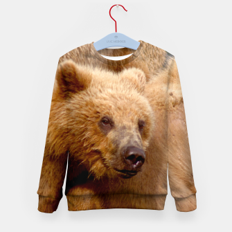 Thumbnail image of Brown Bear Kid's sweater, Live Heroes